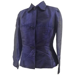 Vintage purple beads jacket
