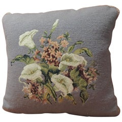Vintage Purple Floral Tapestry Decorative Pillow