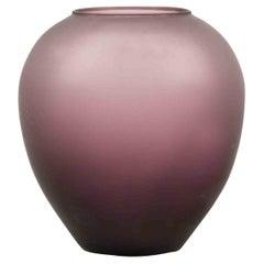 Vintage Purple Glass Vase, 1970s