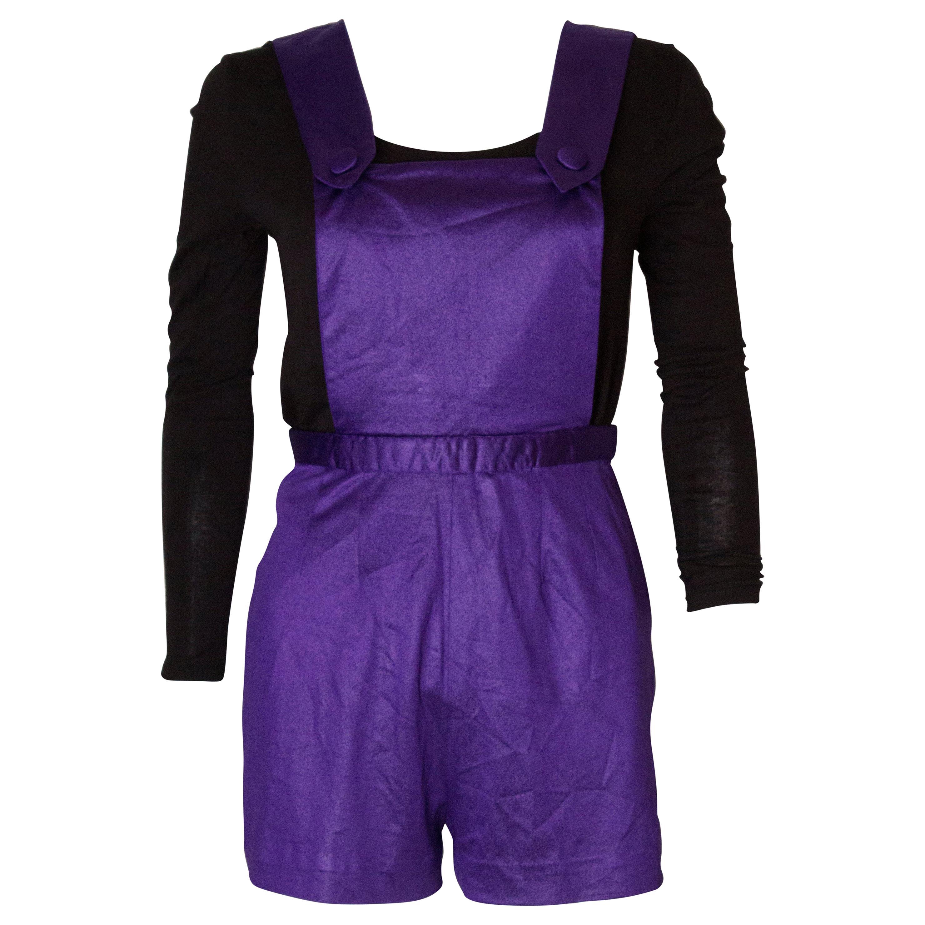 Vintage Purple Playsuit
