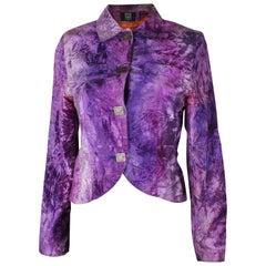 Vintage Biba Purple Velvet Jacket