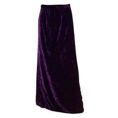 Vintage Purple Velvet Skirt by Hardy Amies