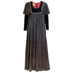 Vintage Quad Blue Gown