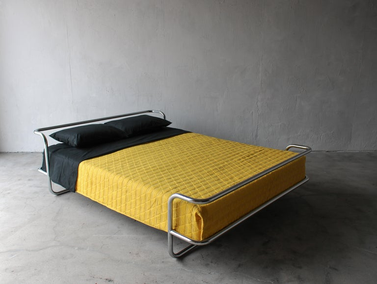 Classic Ikea pieces are becoming harder to collect as they become more and more rare. This all in one bed and frame is a great example of the clean, functional designs that made Ikea so popular. This bed, dated 1990, is constructed of a separate,