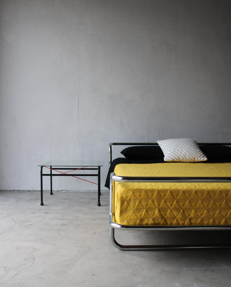 Vintage Queen Chrome Bed by Ikea In Good Condition For Sale In Las Vegas, NV