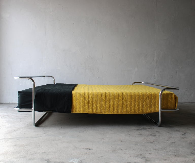 20th Century Vintage Queen Chrome Bed by Ikea For Sale