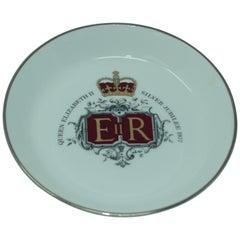 Vintage Queen Elizabeth II Silver Jubilee Porcelain Plate, 1977