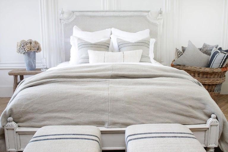 Vintage Queen Louis XVI Style Platform Cane Bed For Sale 2