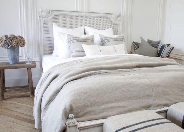 Vintage Queen Louis XVI Style Platform Cane Bed For Sale 3