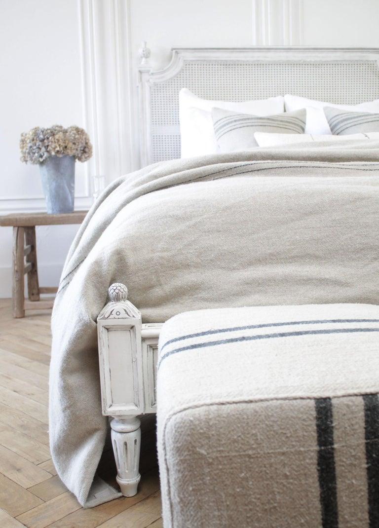 Vintage Queen Louis XVI Style Platform Cane Bed For Sale 4