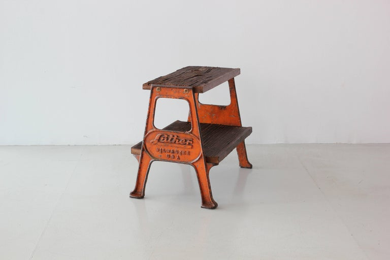 20th Century Vintage Railroad Step Stool For Sale