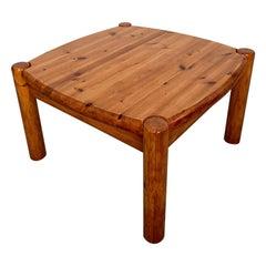 Vintage Rainer Daumiller Attributed Pine Coffee Table, Denmark, 1970s