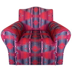 Ralph Lauren Wool & Cashmere Ganado Navajo Deep Red Armchair Lounge Chair
