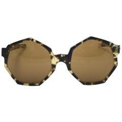 Vintage Rare A.A Sutain Dark Tortoise Undertones Sunglasses 1970's