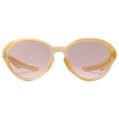 Vintage Rare A.A Sutain Oversized Beige Undertones Sunglasses 1970's