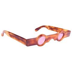 Vintage Rare Alain Mikli AM89 0155 Tortoise Havana France Sunglasses 1989