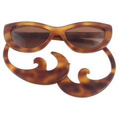 Vintage Rare Alain Mikli CT87 for Chantal Thomass Curled Temples Sunglasses 1989