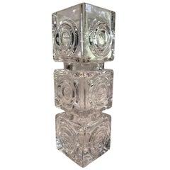 Vintage Rare Bengt Edenfalk Skruf Glass Vase