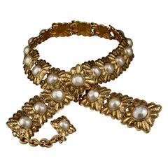 Vintage RARE Chanel Pearl Byzantine Belt