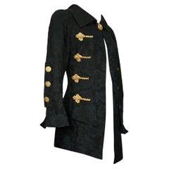Vintage Rare CHRISTIAN LACROIX Sculptured Metal Buttons Jacquard Blazer Jacket