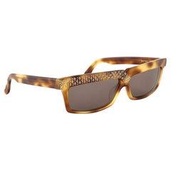Vintage Rare Claude Montana 555053 Smoking Tortoise& Rhinestones Sunglasses 1989