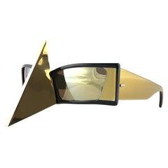 Vintage Rare Collector Alain Mikli AM 87 Nose Guard Avantgarde Sunglasses 1988