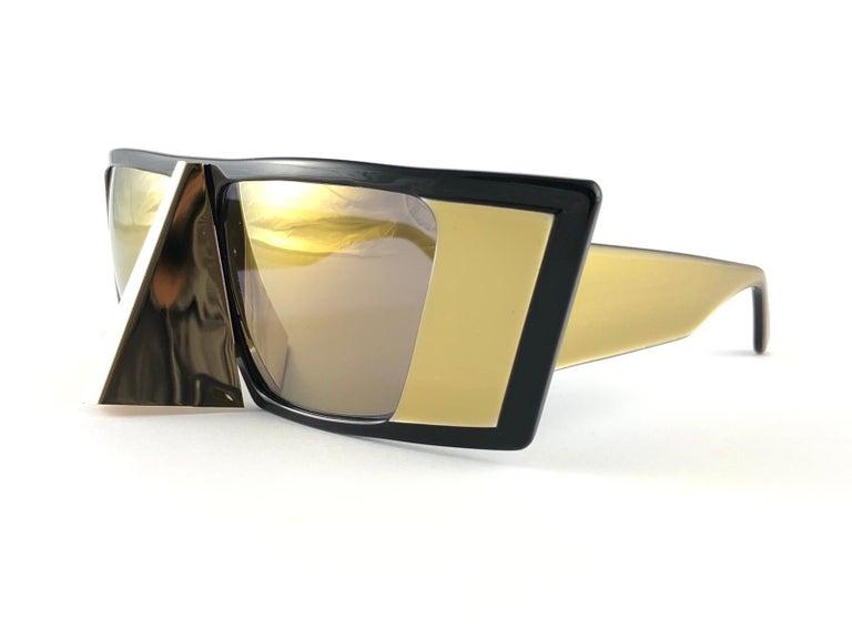 Vintage Rare Collector Alain Mikli AM 88 Nose Guard Avantgarde Sunglasses 1988 For Sale 5