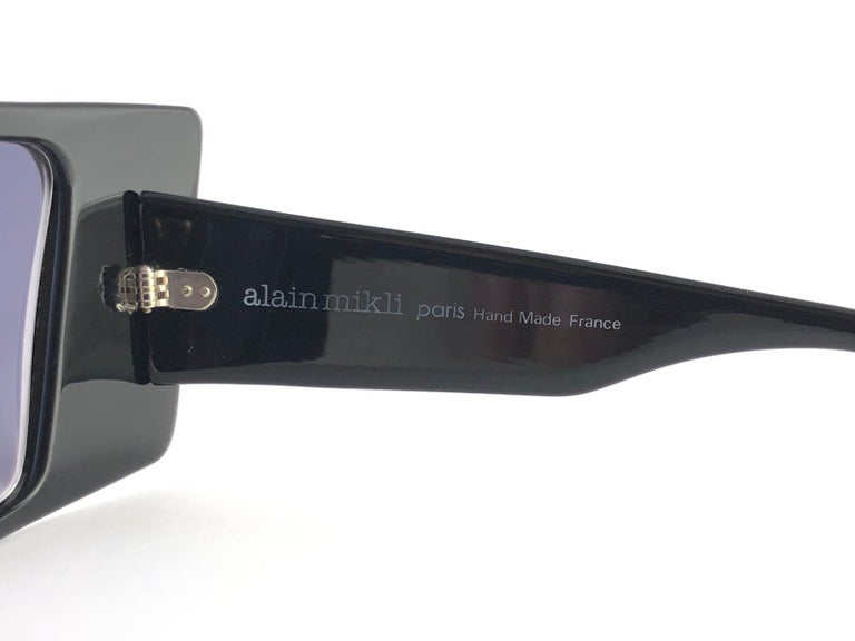 Vintage Rare Collector Alain Mikli AM 88 Nose Guard Avantgarde Sunglasses 1988 In New Condition For Sale In Amsterdam, Noord Holland