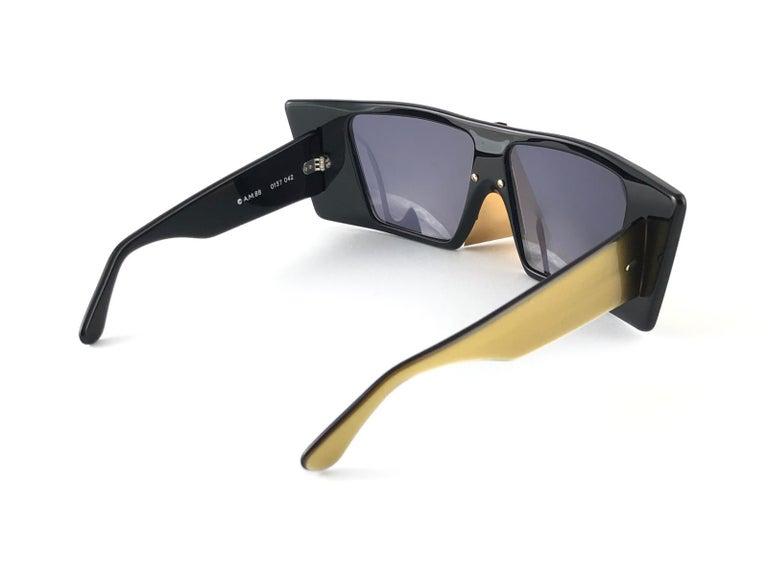 Vintage Rare Collector Alain Mikli AM 88 Nose Guard Avantgarde Sunglasses 1988 For Sale 2