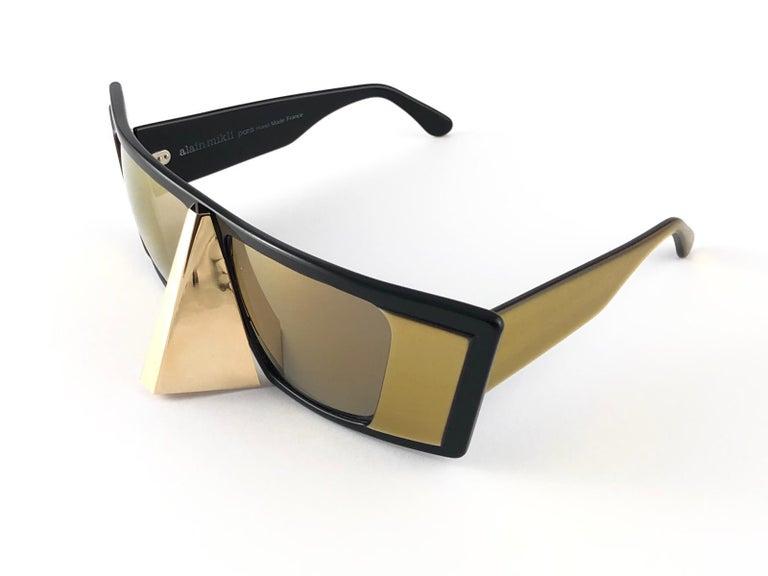 Vintage Rare Collector Alain Mikli AM 88 Nose Guard Avantgarde Sunglasses 1988 For Sale 4