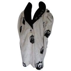 Vintage Rare Faux Fur Panda Bear Coat