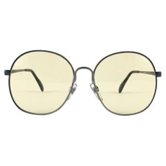 Vintage Rare Menrad 626  Semi Round Oversized Silver 1970 Sunglasses