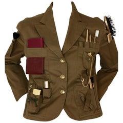 Vintage RARE MOSCHINO COUTURE Survival Jacket Military Safari Jacket