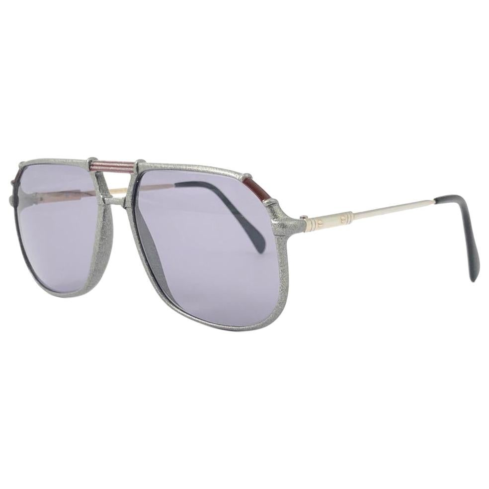 Vintage Rare Neostyle 634 Oversized Lenses Space Grey 1970 Sunglasses