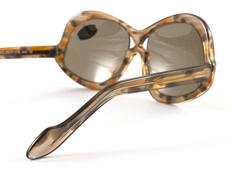 Vintage Rare Neostyle Clavit 175 Oversized 1970 Sunglasses For Sale 2