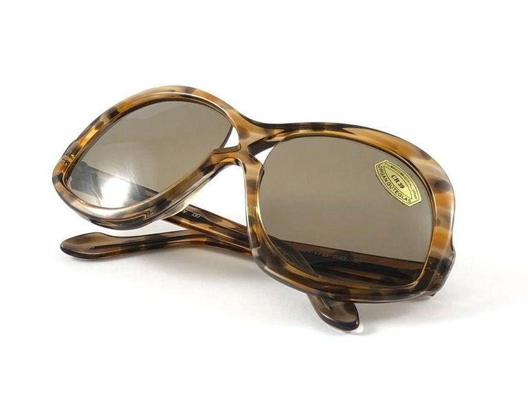 Vintage Rare Neostyle Clavit 175 Oversized 1970 Sunglasses For Sale 3