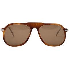 Vintage Rare Neostyle Oversized Tortoise & Silver Brown Lenses 1970 Sunglasses