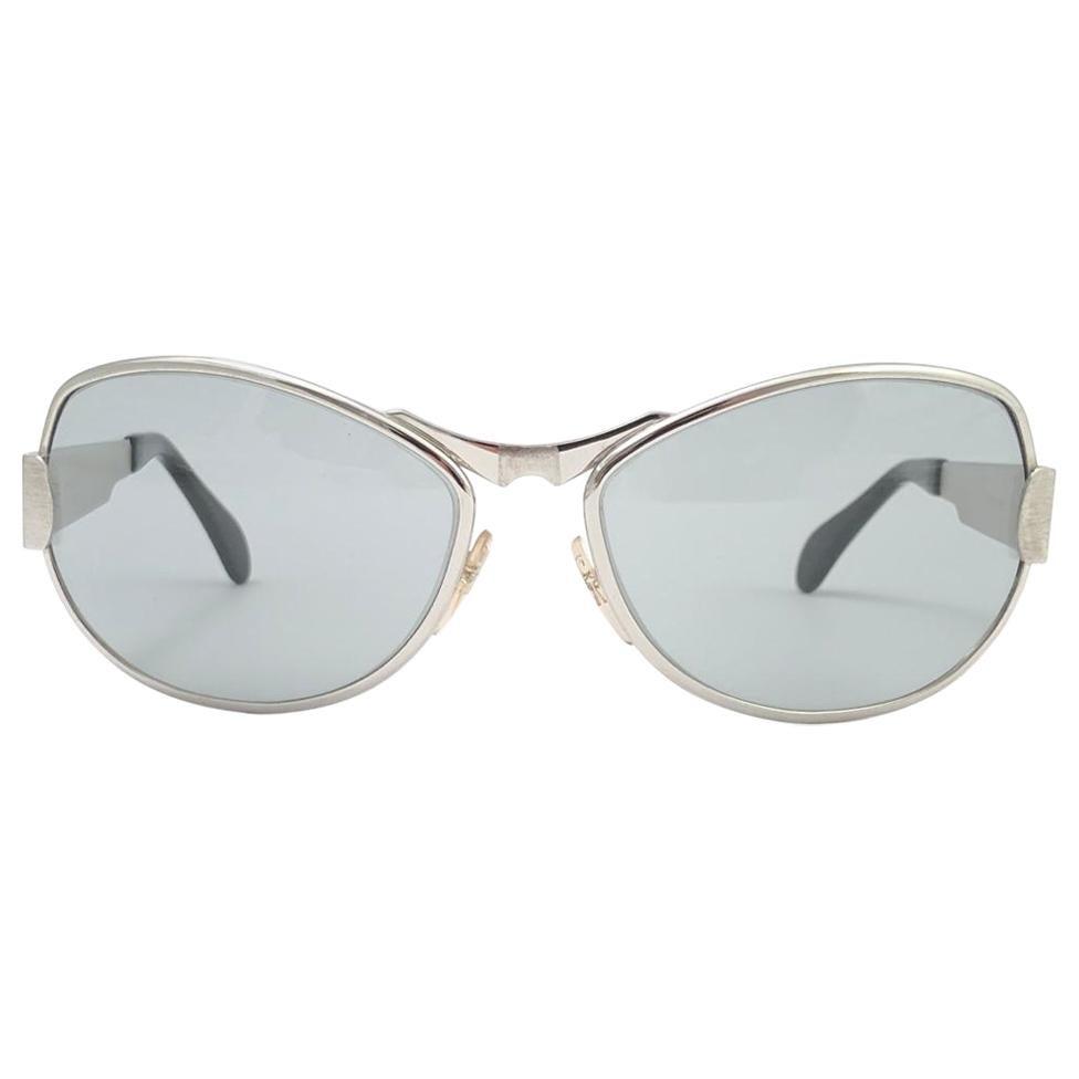 "Vintage Rare Neostyle "" Zodiac "" Oversized Silver Lenses 1970 Sunglasses"