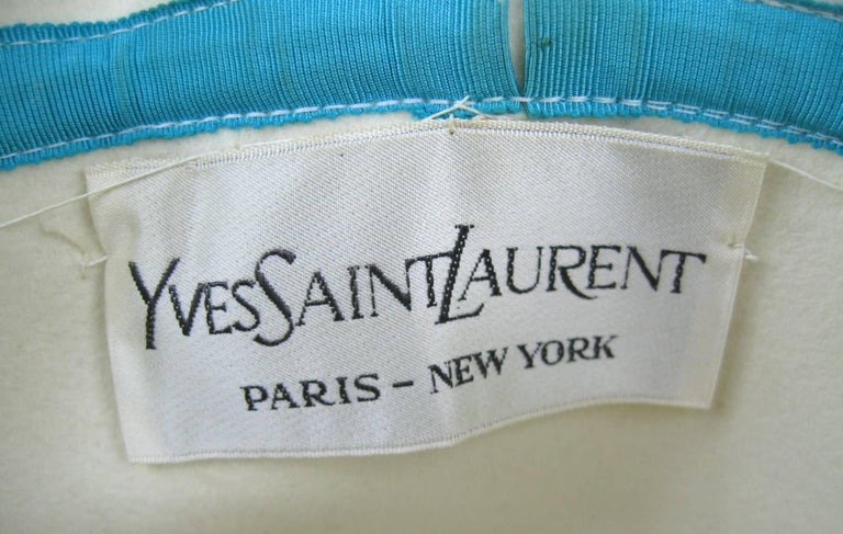 Vintage Rare YSL 1960s Yves Saint Laurent Beaded Cloche Hat For Sale 3