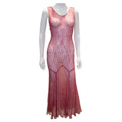 Vintage Raspberry Lace Dress