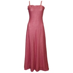 Vintage Raspberry Pink Knit Gown