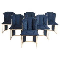 Vintage Rattan Dining Chairs by Romeo Rega