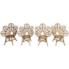 Vintage Rattan Lounge Chairs, 1970s