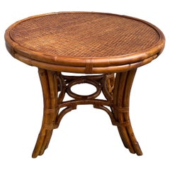 Vintage Rattan Round Table by Ralph Lauren Collection