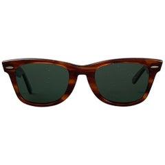 Vintage RAY-BAN B&L Brown Acetate Wayfarer Sunglasses