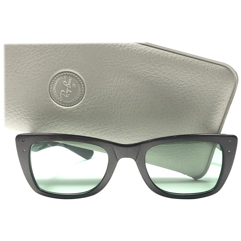 243c588068 Vintage Ray Ban Caribbean Space Grey 1960 Mid Century B L USA Sunglasses  For Sale