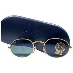 Vintage Ray Ban Gold Oval G15 Grey Lens  B&L Vintage Sunglasses 1980s