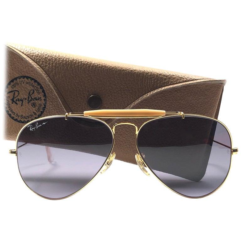 08b9efe799640 Vintage Ray Ban Outdoorsman 58Mm G20 Grey Chromax Lenses B L Sunglasses For  Sale