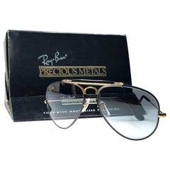 Vintage Ray Ban Precious Metals 24k Black & Gold B&L Outdoorsman 62' Sunglasses