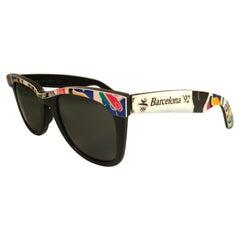 Vintage Ray Ban The Wayfarer Olympics Barcelona 1992 B&L USA 80's Sunglasses